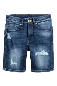 Superstretch denim shorts